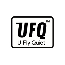 ufq u fly quiet logo