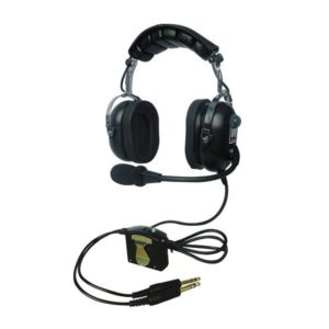 black ufq aviation headset