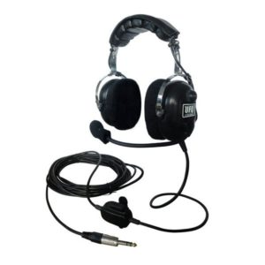 black ufq aviation ground crew headset