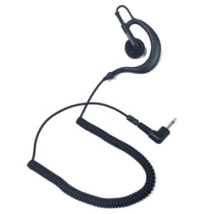 earbud speaker listen only c-style earhook earpiece