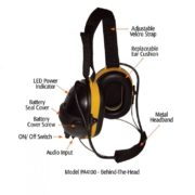 diagram of anr headset behind the head