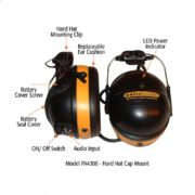 diagram anr headset with hard hat mount