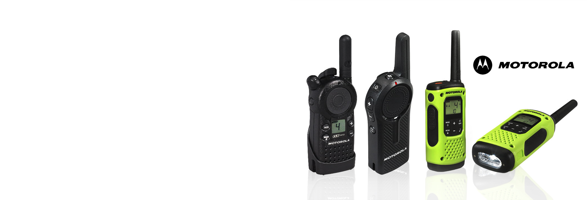 We offer the Full line-up of Motorola Business & Family Radios