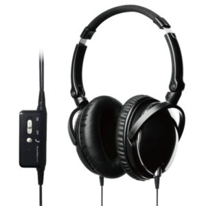 black active noise cancelling headset