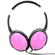 pink active noise cancelling headset