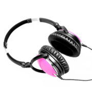 pink active noice cancelling headset