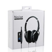 black active noise cancelling headset in package