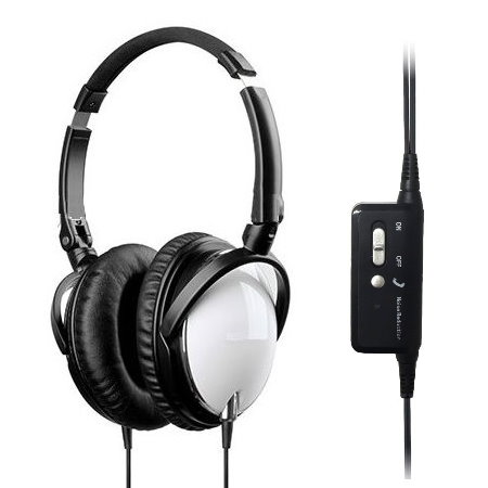 white active noise cancelling headset