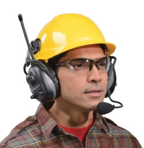 man wearing hard hat and heatset
