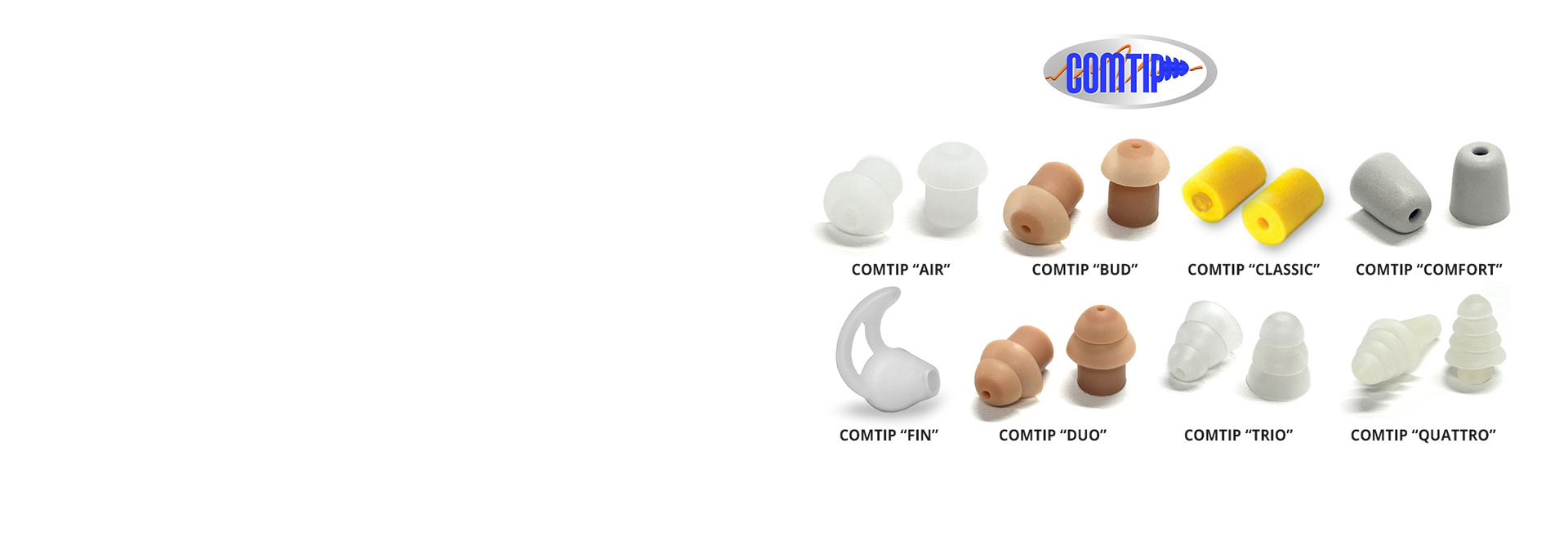 No matter what your application we have COMTIP ear insert to use with your surveillance kit air tubes.